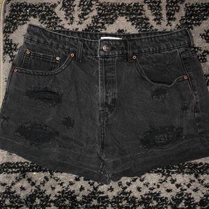 Dark gray jean shorts
